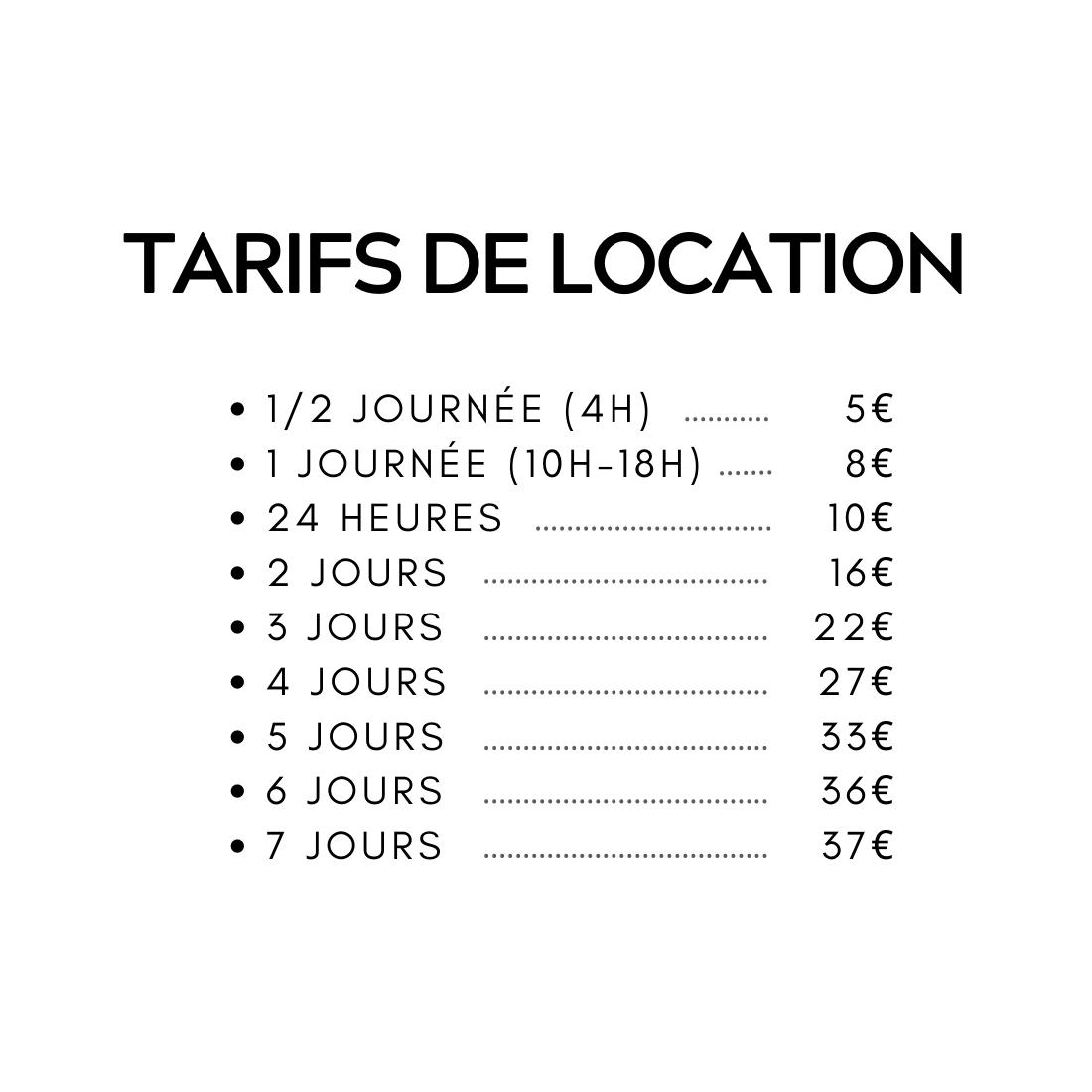 tarif location GPS et rack surf